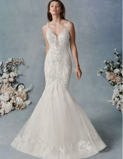Beaded Embroidery Pattern:Embroidered Lace:English Net:Organza:Stretch Lining 78