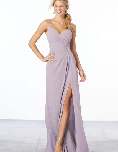 Chiffon Bridesmaid Dress with Side Slit