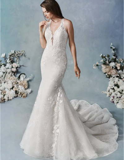 Embroidered Cotton Lace:Corded Alencon Lace:Allover Chantilly Lace:Sequined Tulle:English Net:Organza:Stretch Lining 65