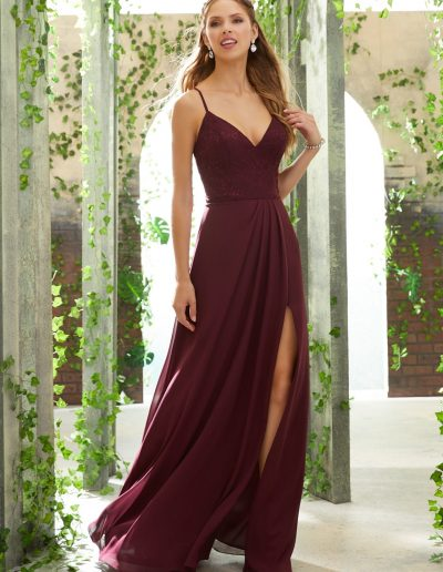 Sexy Bridesmaid Dress with V-Neck, Lace Bodice