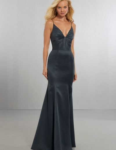 Sexy Satin Bridesmaids Dress with Plunging V-Neckline and Open Back_files